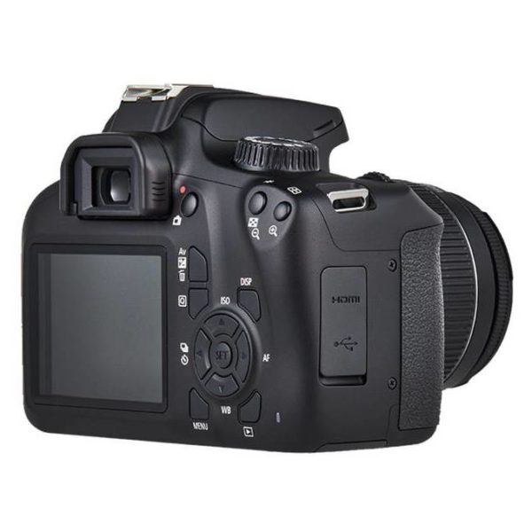 Canon EOS 4000D DSLR Camera Body Black + EFS 18-55MM DC III Black Kit + EF 75-300MM 1:4-5 6 III + EF 50MM 1.8 STM