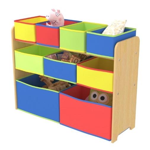 Class Kids Toy Storage Organizer with 9 Fabric Storage Box