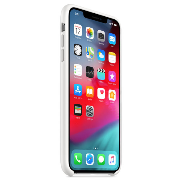 Apple Silicone Case White For iPhone XS