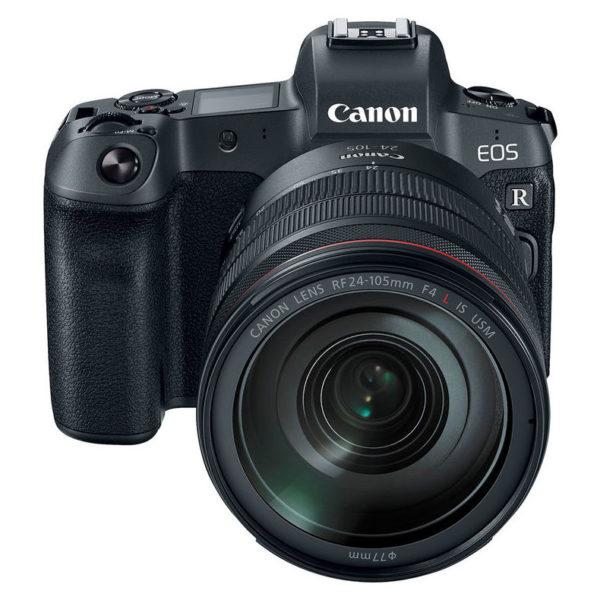 Canon EOS R Mirrorless Digital Camera Black With RF 24-105mm f/4L IS USM Lens