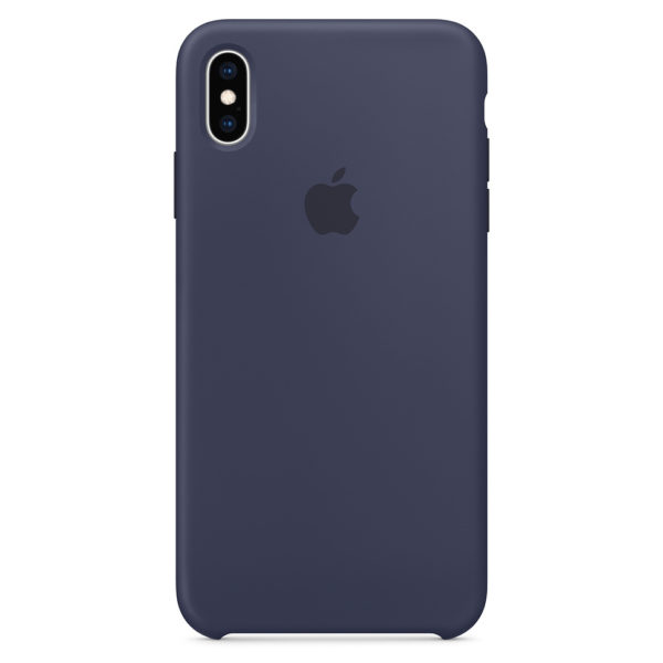 Apple Silicone Case Midnight Blue For iPhone XS Max