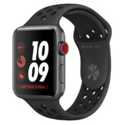 Apple Watch Nike+ Series 3 GPS+Cellular 42mm Space Grey Aluminium Case with Anthracite/Black Nike Sport Band