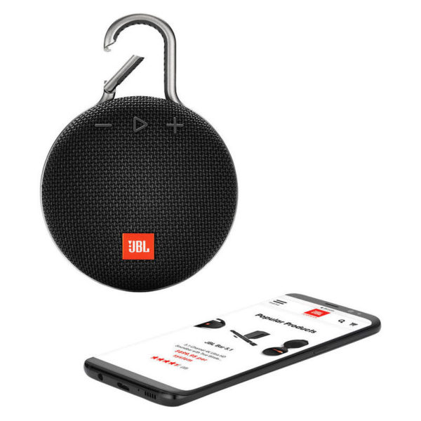 JBL CLIP 3 Waterproof Portable Bluetooth Speaker Black