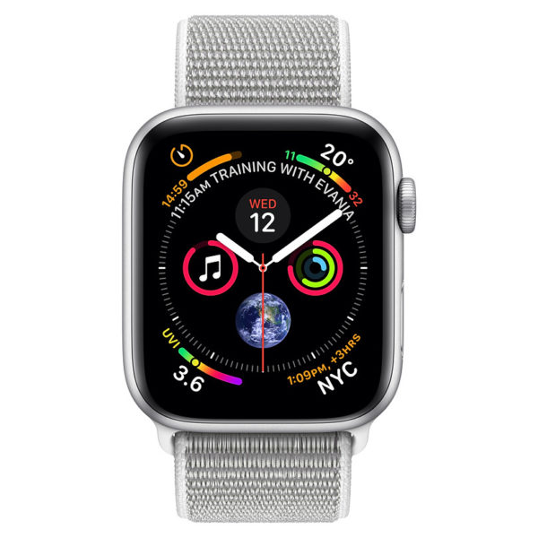 Apple Watch Series 4 GPS 40mm Silver Aluminium Case With Seashell Sport Loop
