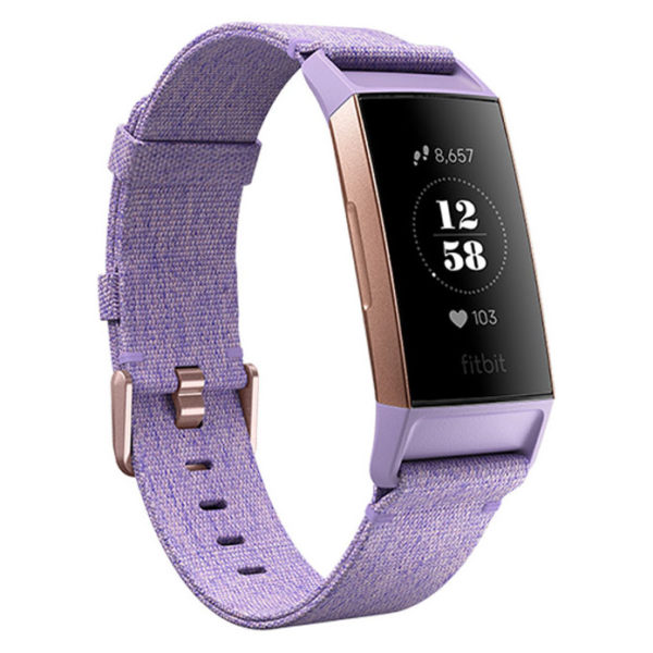 Fitbit Charge 3 Special Edition Fitness Tracker - Lavender Woven/Rose Gold Aluminum