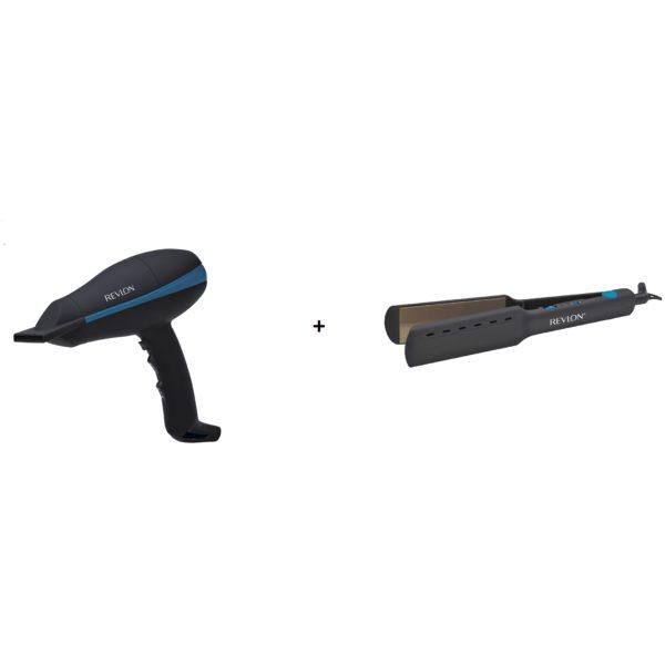 Revlon RVDR5310ARB Hair Dryer+ RVST2412ARB Hair Straightner