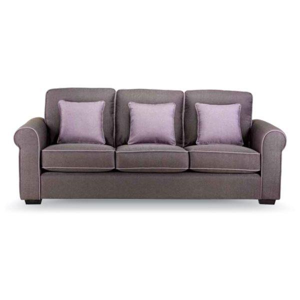 Royal Furniture CANON 3 Seater Sofa 224 x 90 x 90cm Purple