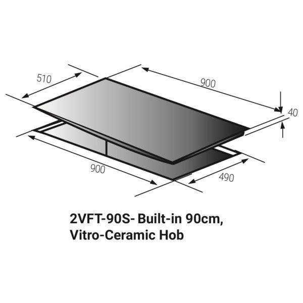 Fagor 5 Built-In Vitro Ceramic Hob 2VFT-90S