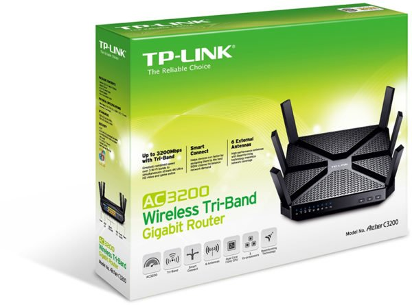 TPLink Archer AC3200 TriBand Gigabit Router + LB100 Wi-Fi Smart LED Bulb