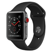 Apple Watch Series 3 GPS + Cellular 38mm Space Grey Aluminium Case With Black Sport Band