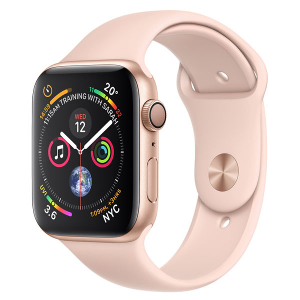 Apple Apple Watch Series 4 GPS 44mm Gold Aluminium Case With Pink Sand Sport Band