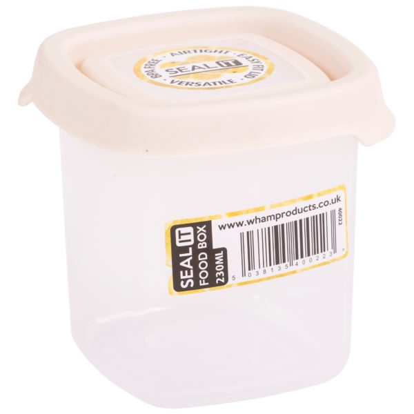 Wham SeaL It Square Food Storage Cream 230ml
