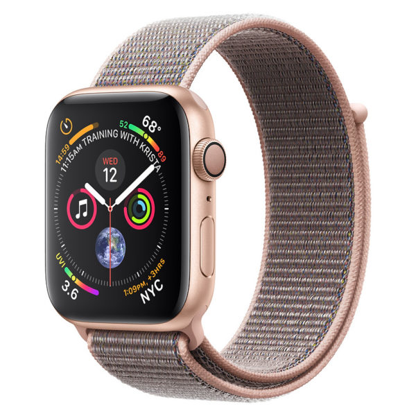 Apple Watch Series 4 GPS 44mm Gold Aluminium Case With Pink Sand Sport Loop Pre order