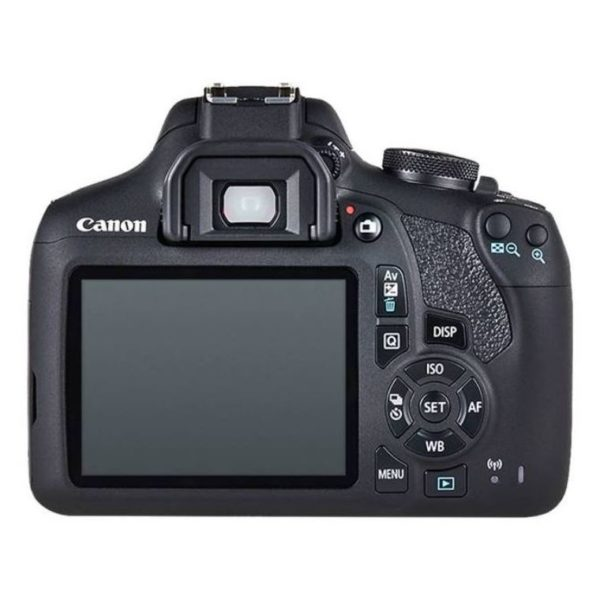 Canon EOS 2000D DSLR Camera Black With 18-55mm IS II Lens + 75-300mm III Lens
