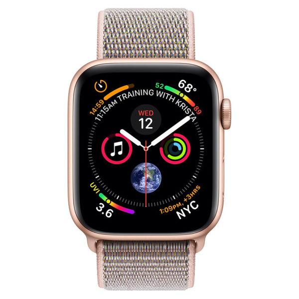 Apple Apple Watch Series 4 GPS 44mm Gold Aluminium Case With Pink Sand Sport Loop