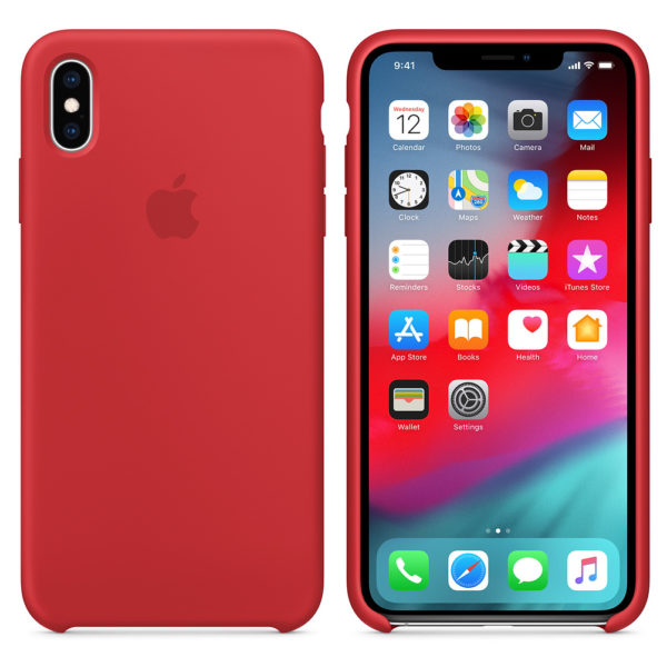Apple Silicone Case Product Red For iPhone XS