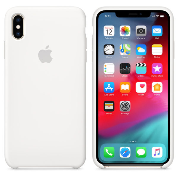 Apple Silicone Case White For iPhone XS Max