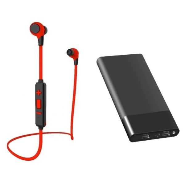 Xcell SHS102BND Sports Headset Red + PC13201 Power Bank 13000mAh