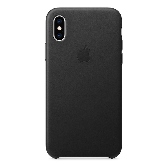 Apple Leather Case Black For iPhone XS Max