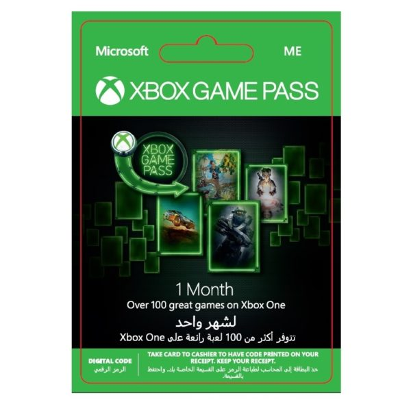Microsoft Xbox Game Pass 1 Month Subscription