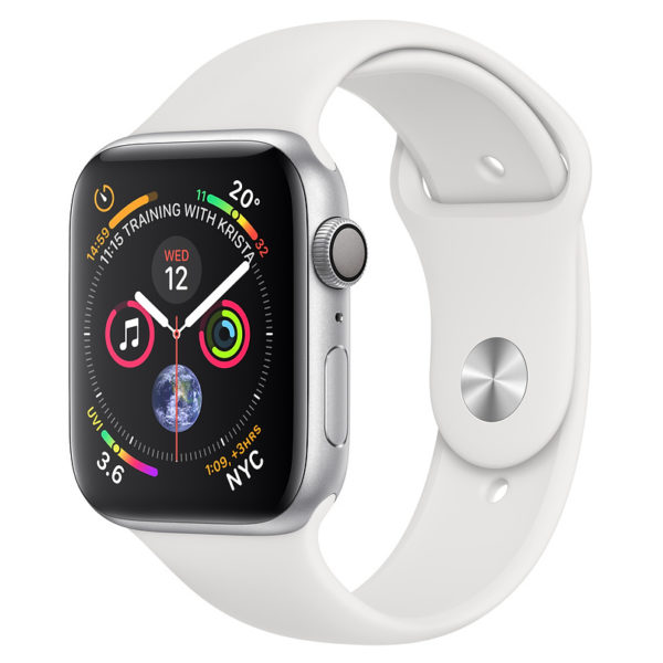 Apple Apple Watch Series 4 GPS 40mm Silver Aluminium Case With White Sport Band
