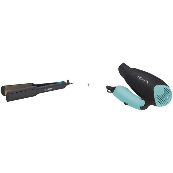 Revlon RVST2412ARB Hair Straightner + RVDR5305ARB Hair Dryer