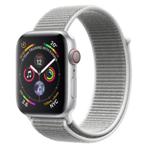 cf0719debb2fc Apple Apple Watch Series 4 GPS 44mm Silver Aluminium Case With Seashell  Sport Loop