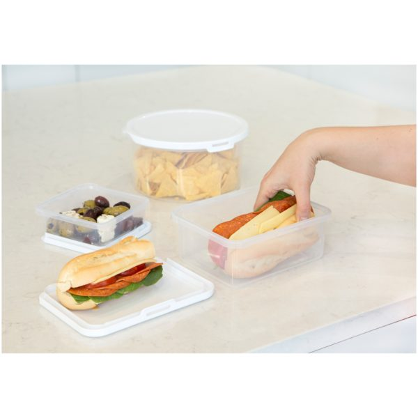 Wham Food Locker Rectangular Clear/White 1.8L
