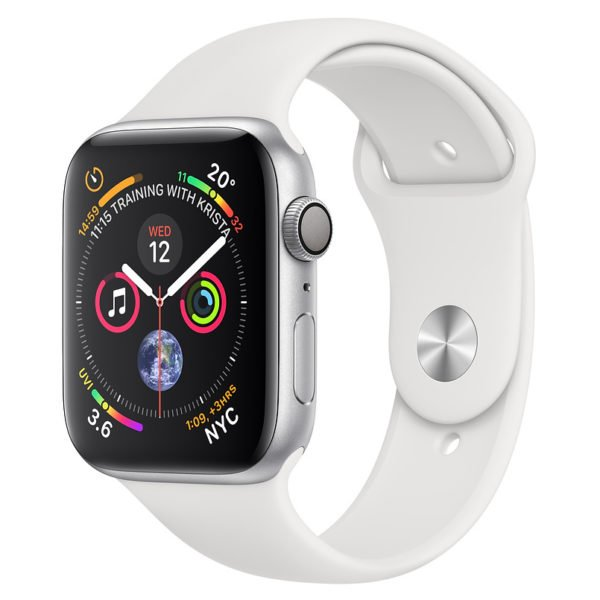 Apple Watch Series 4 GPS 40mm Silver Aluminium Case With White Sports Band