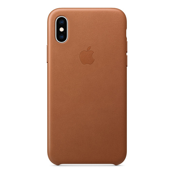 Apple Leather Case Saddle Brown For iPhone XS Max