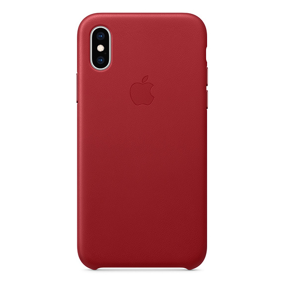 Apple Leather Case Product Red For iPhone XS Max