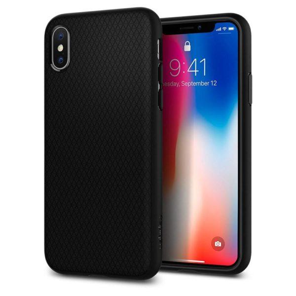 Spigen Liquid Air Case Matte Black For iPhone XR