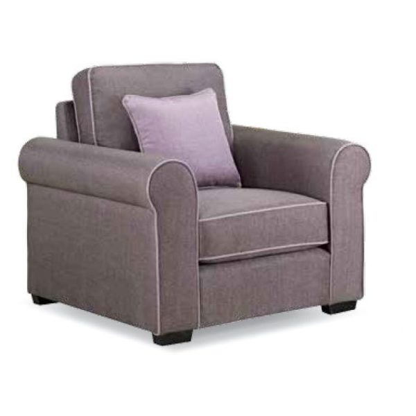 Royal Furniture Canon 1 Seater Sofa 104 x 90 x 90 cm Upholsted Fabric Purple