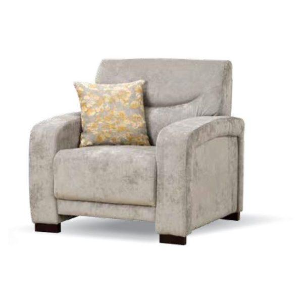 Royal Furniture R24 1 Seater Sofa 100 x 90 x 90cm Beige