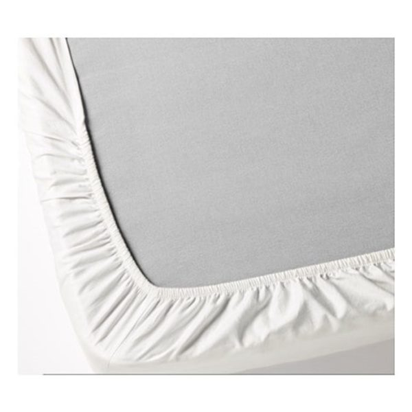 Kingtex Fitted Sheet king 200x200cm without Pillow cover White