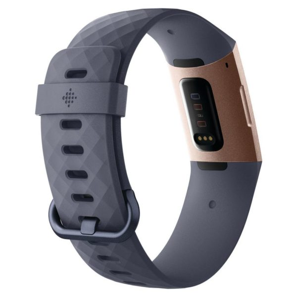 Fitbit Charge 3 Advanced Fitness Tracker - Blue Grey/Rose Gold Aluminum