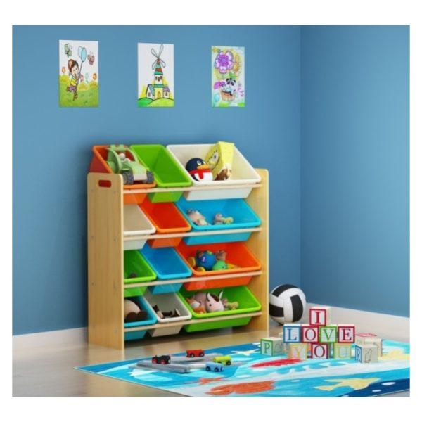Class Kids Toy Storage Organizer 12 Plastic Bins Medium