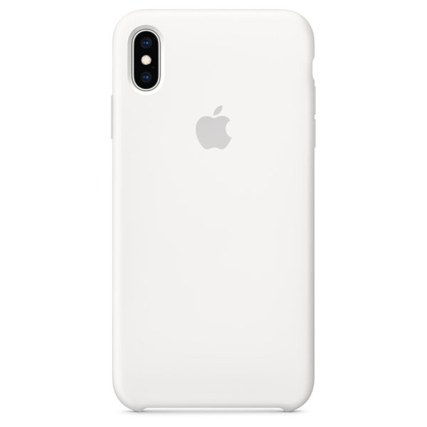 size 40 4500d b3639 Apple Silicone Case White For iPhone XS Max