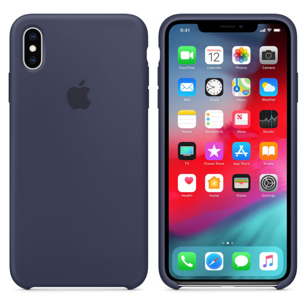 Apple Silicone Case Midnight Blue For iPhone XS