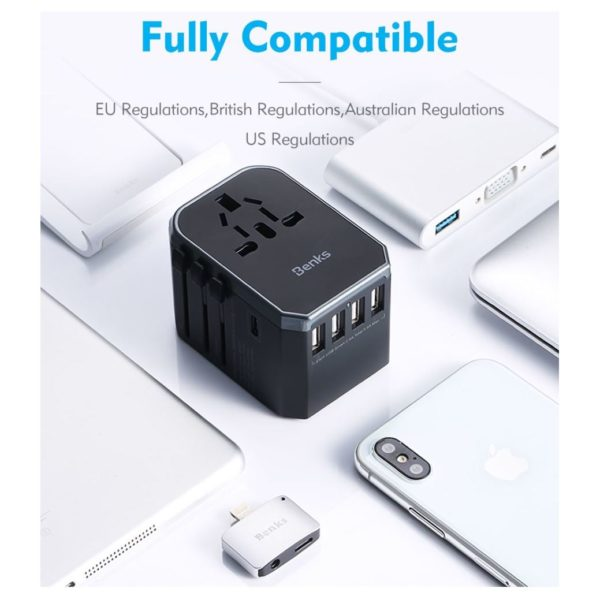 Benks A29 Universal Travel Charger Black