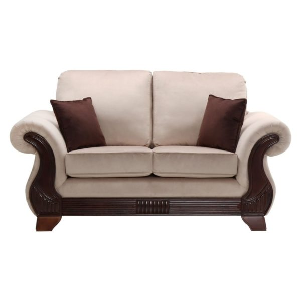 Tremendous Royal Furniture Cannady 2 Seater Sofa 185 X 95 X 105 Cm Upholsted Fabric Beige Interior Design Ideas Gentotryabchikinfo