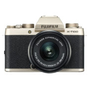 Fujifilm X-T100 Mirrorless Digital Camera Champagne Gold With XC 15-45mm f/3.5-5.6 OIS PZ Lens