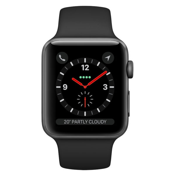 Apple Watch Series 3 GPS + Cellular 42mm Space Grey Aluminium Case With Black Sport Band