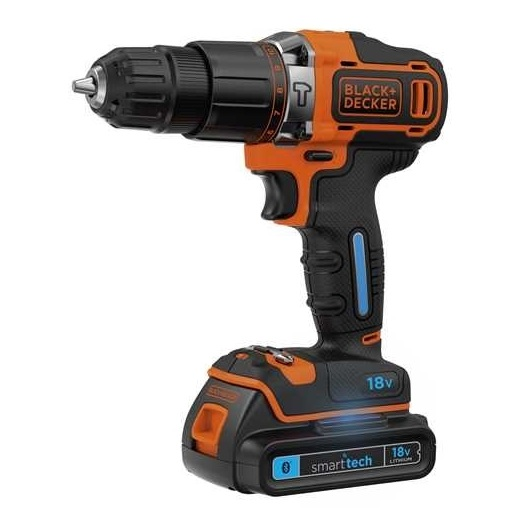 Black & Decker 18V Lithium-ion 2 Gear Smart Tech Hammer Drill BDCHD18KST-GB