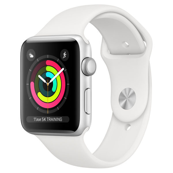 Apple Watch Series 3 GPS - 42mm Silver Aluminium Case with White Sports Band
