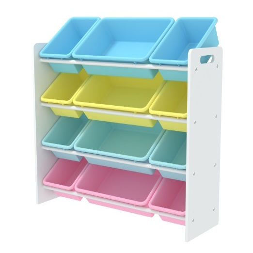 Class Kids Toy Storage Organizer with 12 Plastic Bins