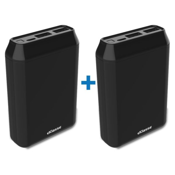 Eklasse Power Bank 10000mAh Bundle- Black