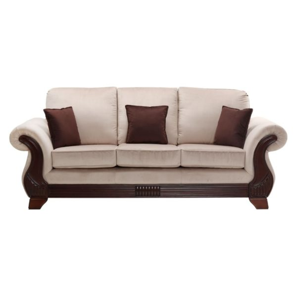 Royal Furniture Cannady 3 Seater Sofa 240 x 95 x 105 cm Upholsted Fabric Beige