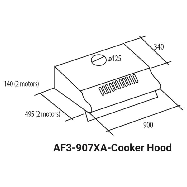 Fagor Built In Conventional Cooker Hood AF3-907XA