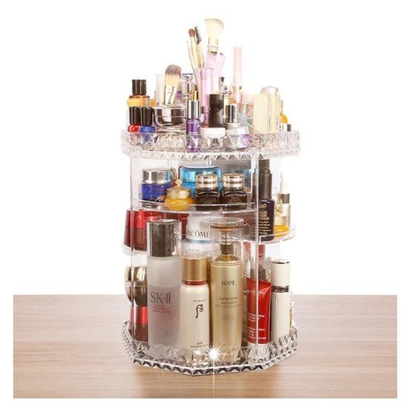 Class Makeup Organizer 360 Degree Rotating Adjustable Cosmetics Storage
